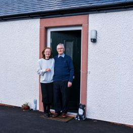 First Customers with keys on doorstep